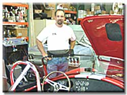 Tom Lucas in his shop located in Sacramento, CA